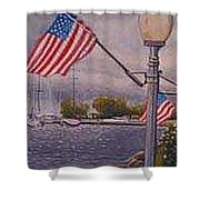Bayfield On The 4th Shower Curtain by Rick Huotari
