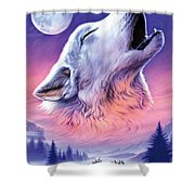 Baying To The Moon Shower Curtain