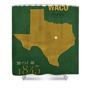 Baylor University Bears Waco Texas College Town State Map Poster Series No 018 Shower Curtain