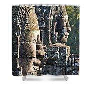 Bayon Faces - Angkor Wat - Cambodia Shower Curtain