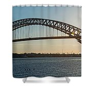 Bayonne Bridge Panoram Sunset Shower Curtain