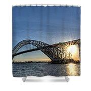 Bayonne Bridge Sunburst Shower Curtain