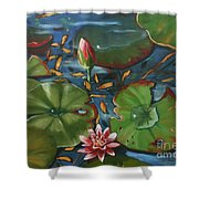 Lily Pond II Shower Curtain