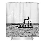 Bayou Energy - Bw Shower Curtain
