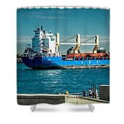 Bbc Elbe On St Clair River Shower Curtain