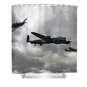 Bbmf Lancaster Spitfire Hurricane Shower Curtain