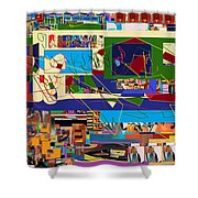 be a good friend to those who fear Hashem 10 Shower Curtain by David Baruch Wolk
