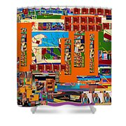 be a good friend to those who fear Hashem 11 Shower Curtain by David Baruch Wolk