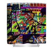 be a good friend to those who fear Hashem 17 Shower Curtain by David Baruch Wolk