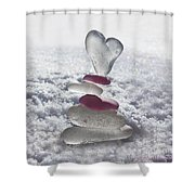 Be Careful With My Heart Shower Curtain