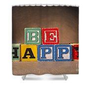 Be Happy - Jabberblocks Shower Curtain