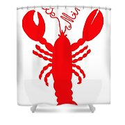 Be Mine Lobster With Feelers 20150207 Shower Curtain