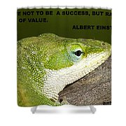 Be Of Value Shower Curtain