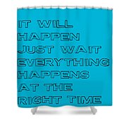 Be Patient Shower Curtain by Brandon Addis