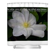 Be Who You Are Shower Curtain