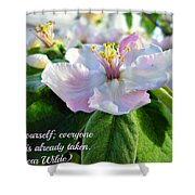 Be Yourself Flower Shower Curtain