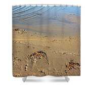 Beach And Rippled Water. Shower Curtain