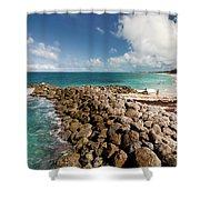 Beach At Atlantis Resort Shower Curtain