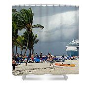 Beach At Coco Cay Shower Curtain