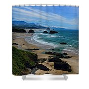 Beach At Ecola State Park Shower Curtain
