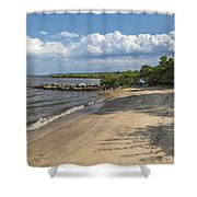 Beach At Ft Smallwood Shower Curtain