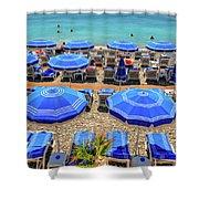 Beach At Nice France Shower Curtain