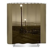 Beach At Night Shower Curtain
