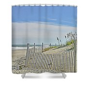 Beach At Outer Banks Shower Curtain