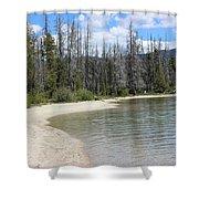 Beach At Redfish Lake Shower Curtain