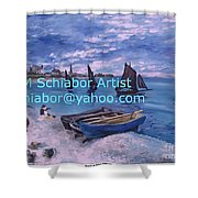 Beach At Saint Address Shower Curtain