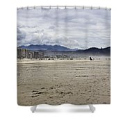 Beach At Seaside Oregon Shower Curtain