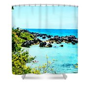 Beach At St. George Bermuda Shower Curtain