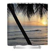 Beach At Sunset 2 Shower Curtain