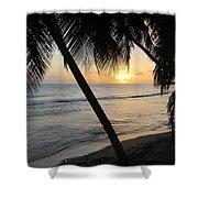 Beach At Sunset 4 Shower Curtain