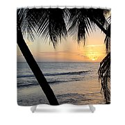 Beach At Sunset 5 Shower Curtain