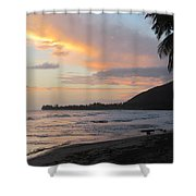 Beach At Sunset 6 Shower Curtain