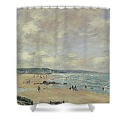 Beach At Trouville Shower Curtain