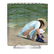 Beach Baby Shower Curtain