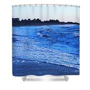 Beach Back Wash Shower Curtain