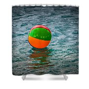 Beach Ball Float Shower Curtain