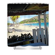 Beach Bar In January Shower Curtain