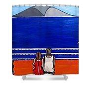 Beach Beach Day Three Shower Curtain