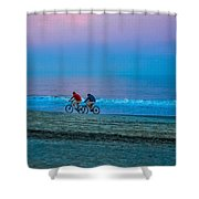 Beach Biking  Shower Curtain