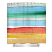 Beach Blanket- Colorful Abstract Painting Shower Curtain