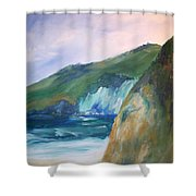 Beach California Shower Curtain
