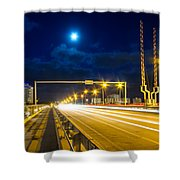 Beach Causeway Shower Curtain