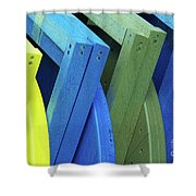 Beach Chair Palette 2 Shower Curtain