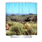 Beach Chairs With A View Shower Curtain