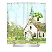 Beach Church Shower Curtain