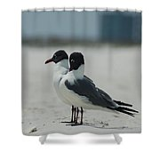 Beach Couple Shower Curtain
